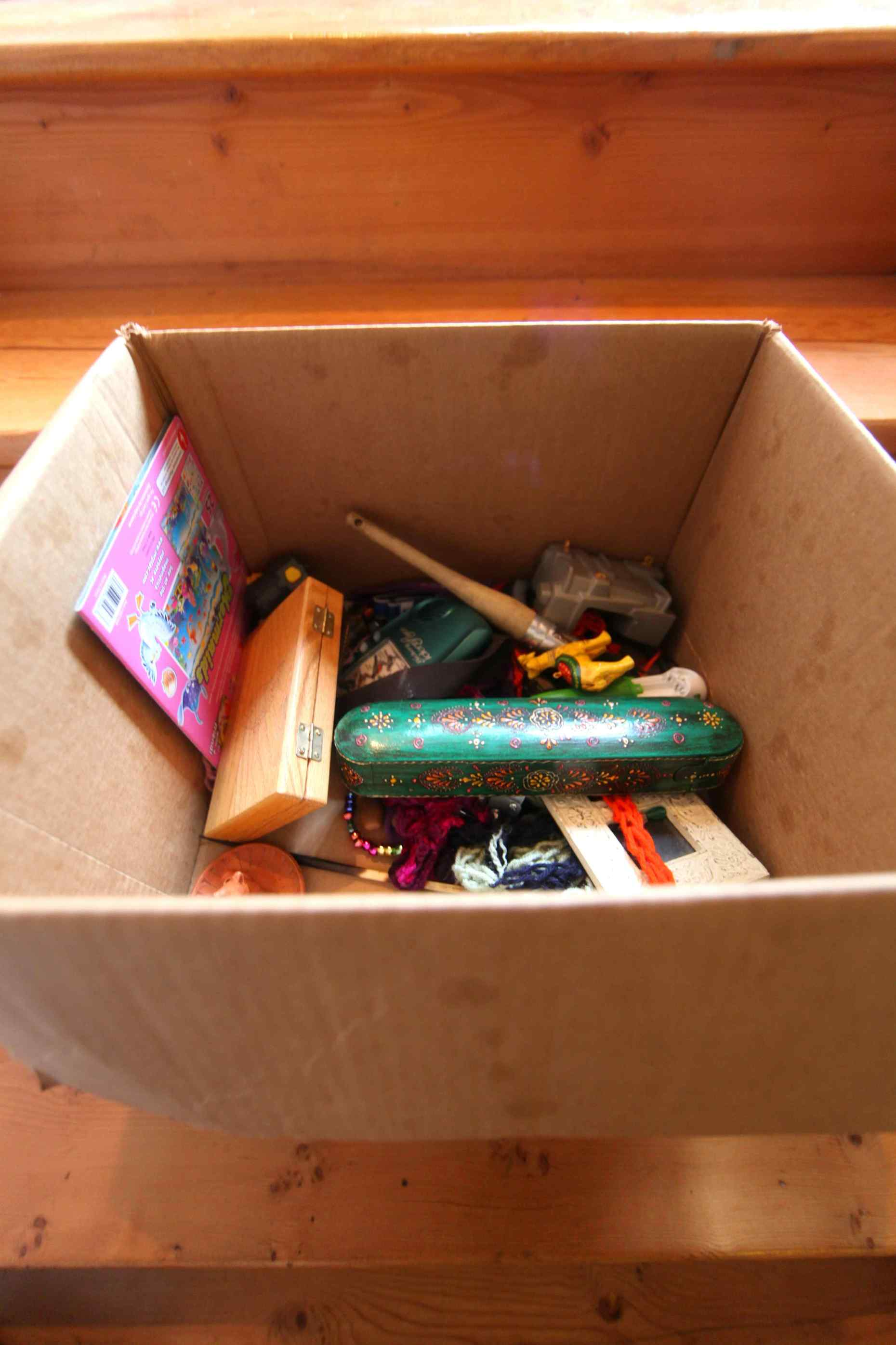 The clutter box. Photo © Liesl Clark