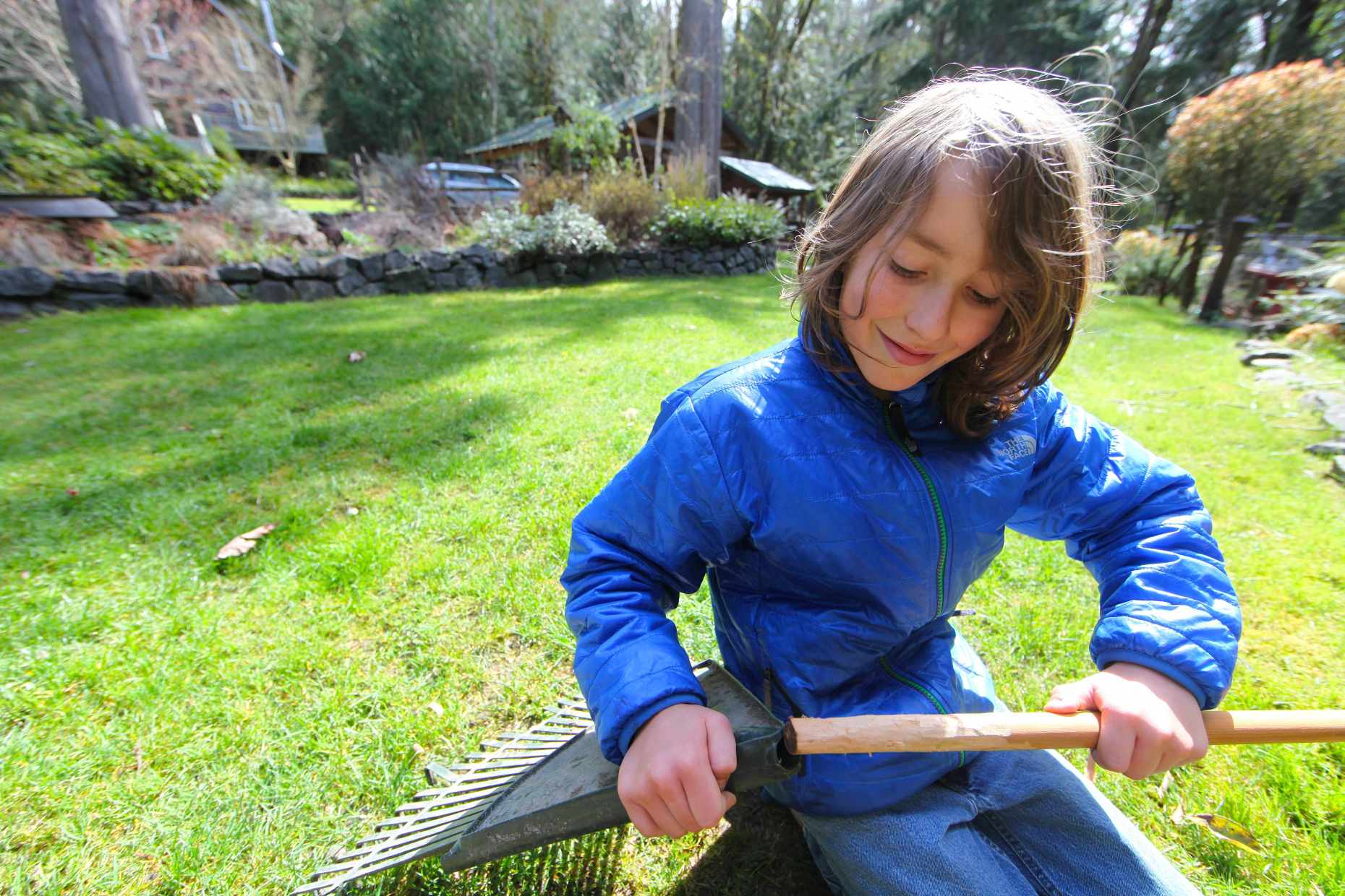 Replacing the broken handle on an old rake took 15 minutes. Photo © Liesl Clark