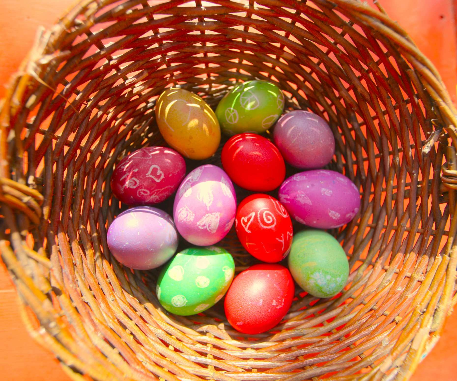 Home-spun toxic free Easter dyes are beautiful. Photo © Liesl Clark