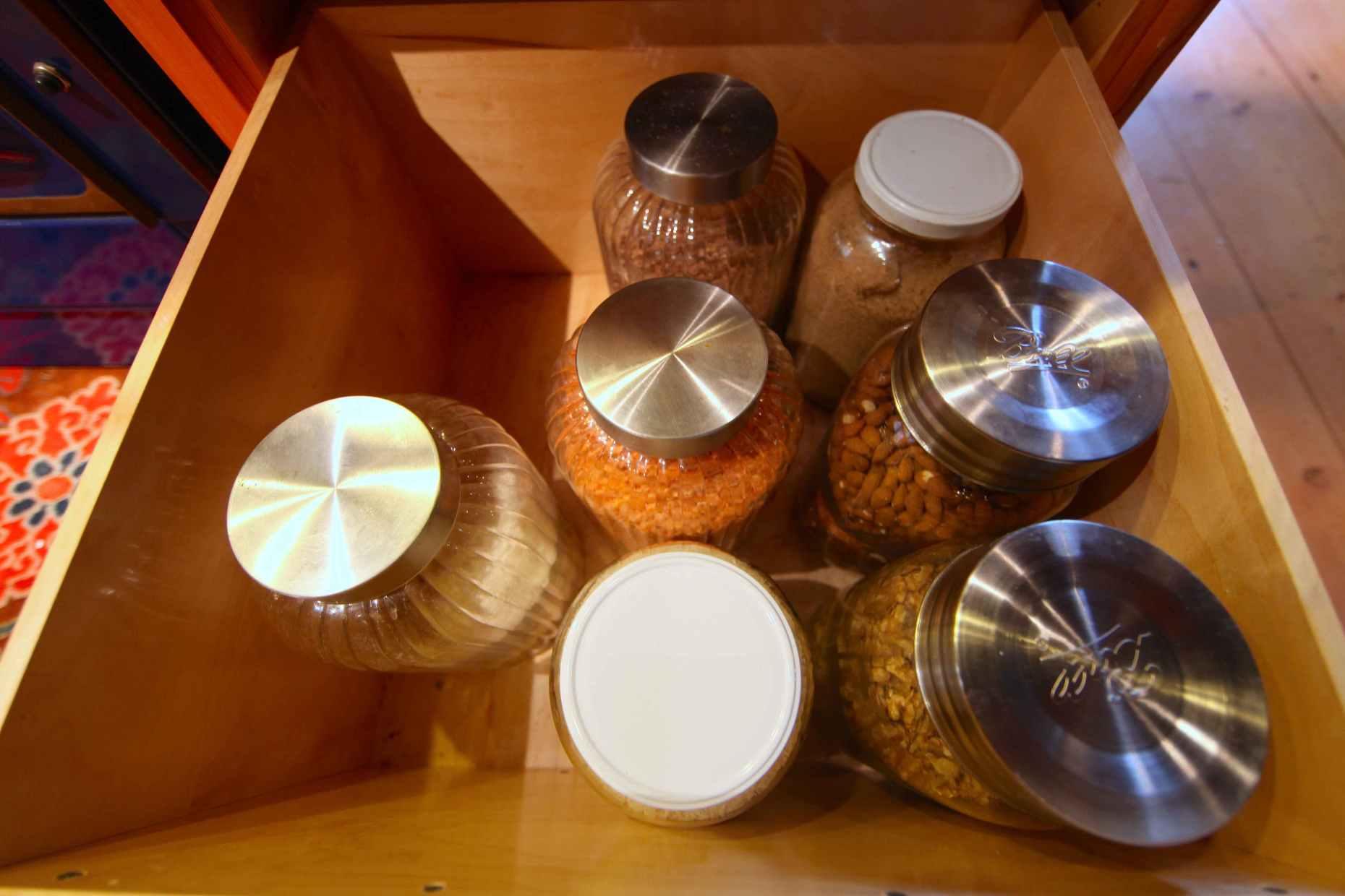 Storage Jars for Sugar, Nuts, and Grains. Photo © Liesl Clark