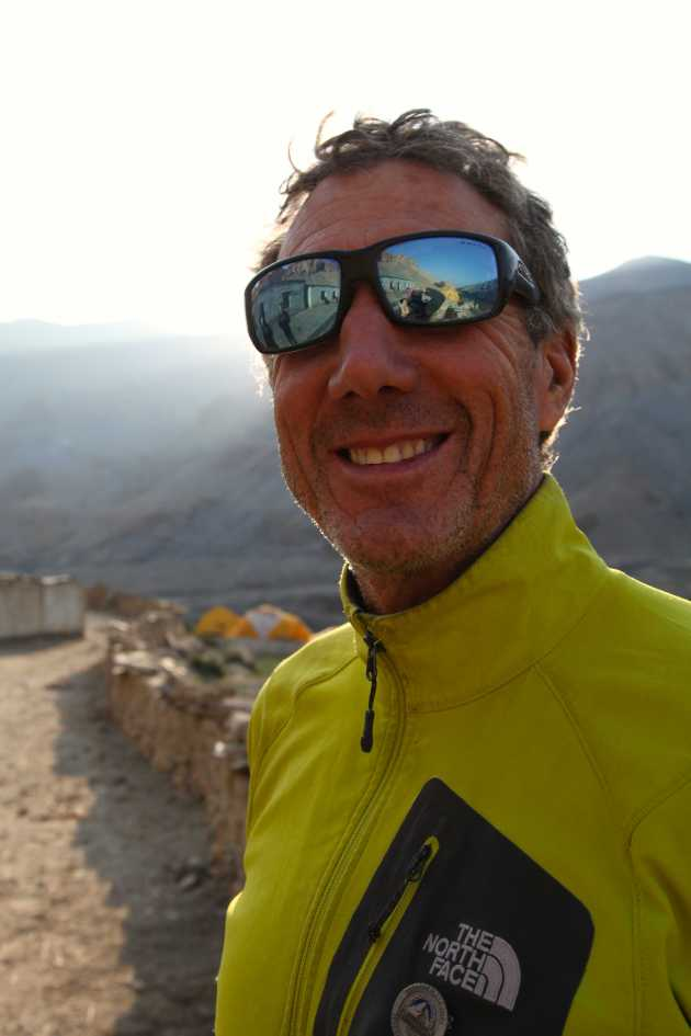 Pete Athans a.k.a. Mr. Everest has climbed to the world's highest point 7 times. He now lives at sea level and uses and abuses his rock climbing gear as often as possible. Photo © Liesl Clark