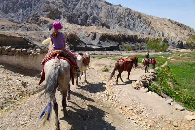 My children on their way to Upper Mustang, Nepal. Photo © Liesl Clark