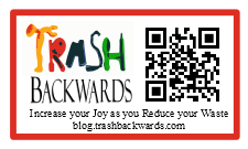 Trash Backwards' Post Card-Sized QR Code. Print One, Share It, and Spread the Word!