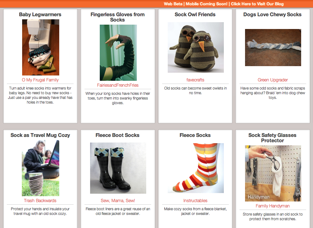 Click Through for Sock Reuses at Trash Backwards.