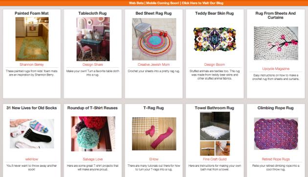 Click Through For DIY Rug Ideas at Trash Backwards.