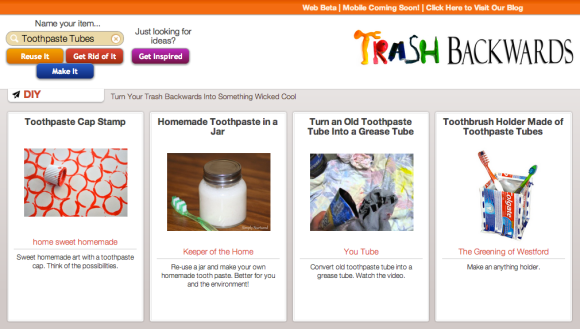 Click Through For Toothpaste Tube Reuses and Recycling Info at Trash Backwards