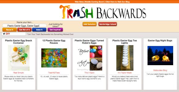 Click Through For Plastic Easter Egg Reuses at Trash Backwards