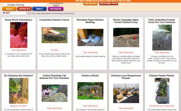Click Through for Chicken Farming Inspirations at Trash Backwards