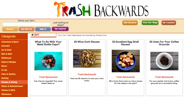 "Click Through For ""Reduce and Reuse"" Ideas in Your Kitchen at Trash Backwards"