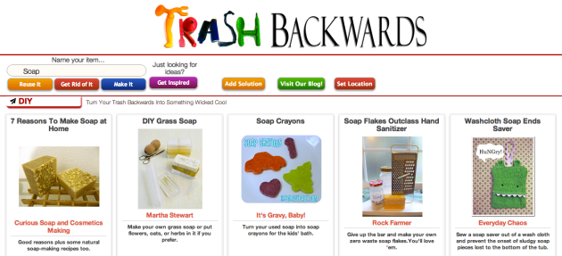 Click Through for Soap-Making or Soap Reuse Ideas at Trash Backwards