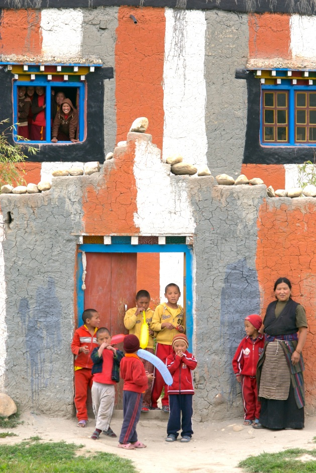 The Ani School in Tsarang, Upper Mustang Nepal Where our Second Magic Yeti Library Was Established. Photo © Kris Erikson