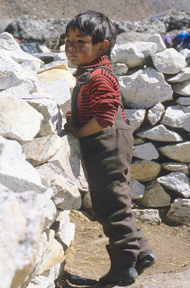 Sherpa Child in Khumbu, Nepal. Photo © Liesl Clark