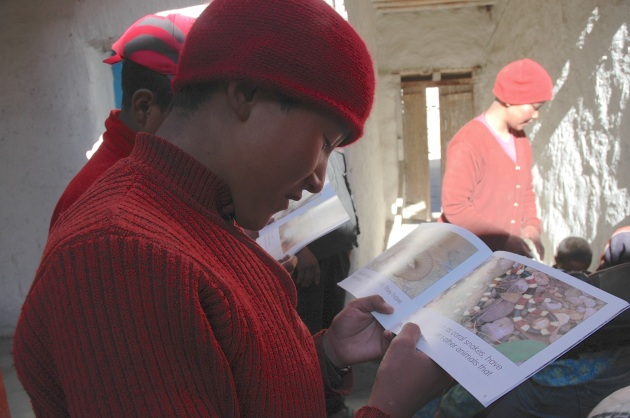 Discarded children's books bring literacy to the Himalayas. Photo © Liesl Clark