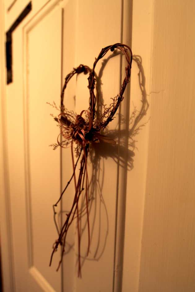 Heart made of dried sticks. Photo © Liesl Clark