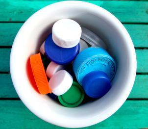 Plastic Bottle Caps © Liesl Clark