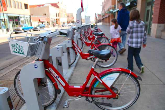 Boulder B-Cycle, Bike Sharing Boulder-Wide. Photo © Liesl Clark