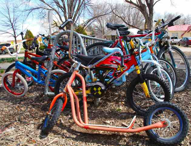 Scooters, hot dog bikes, mountain bikes, granny bikes, beach cruisers, well-maintained clunkers, they're all awaiting riders in Paonia, Colorado.