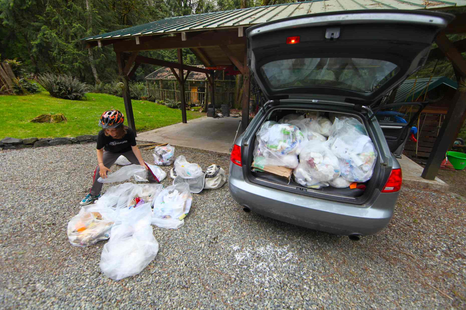 A Carload of Trash = 2 Weeks' Worth of One School's Waste.