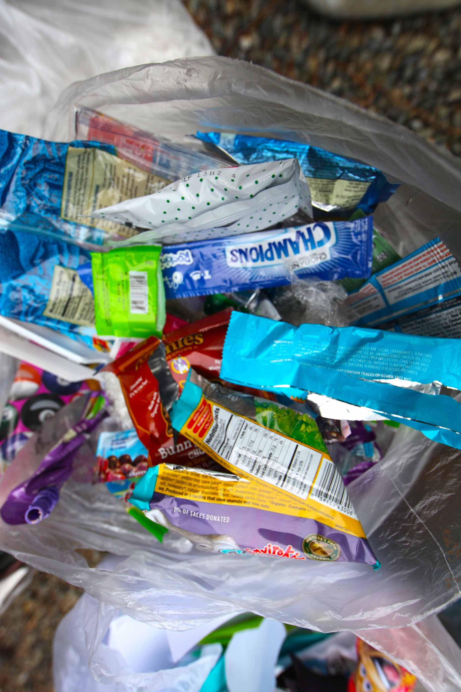 Single Most Common Item in Landfill Trash = Snack Wrappers.