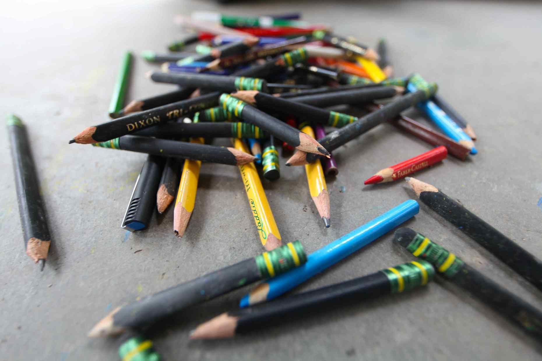 These pencils can be reused. Photo © Liesl Clark