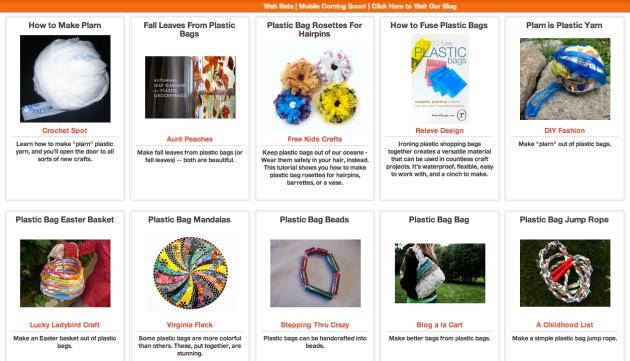 Click Through for More Plastic Bag Reuses at Trash Backwards