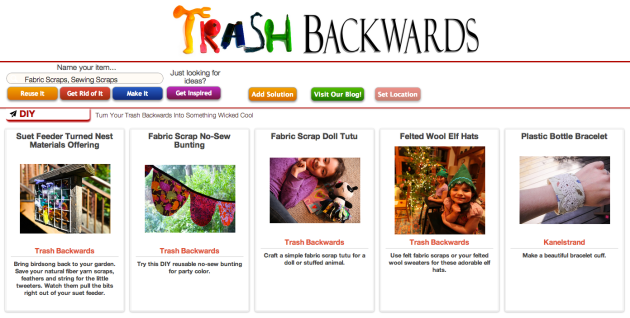Click Through For Fabric Scrap Reuses at Trash Backwards