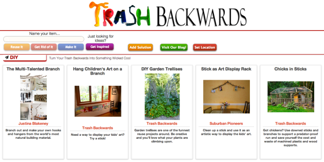 Click Through For More Stick and Branch Reuses at Trash Backwards