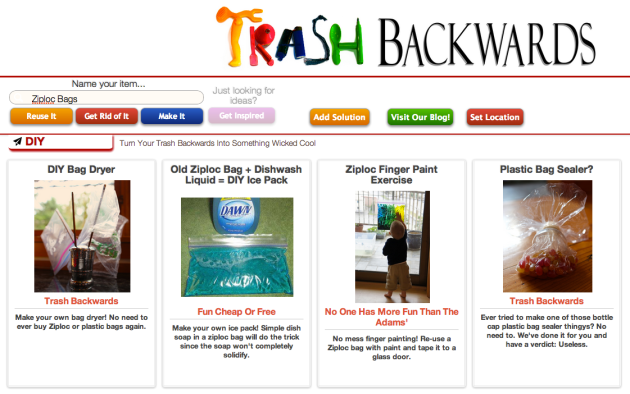 Click Through For More Ziploc Bag Reuses at Trash Backwards