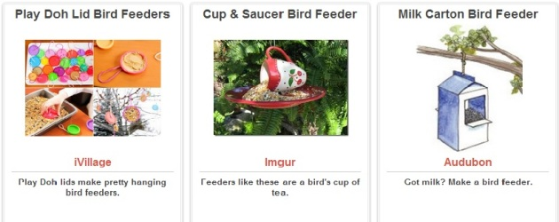 Bird Feeder Ideas via Trash Backwards