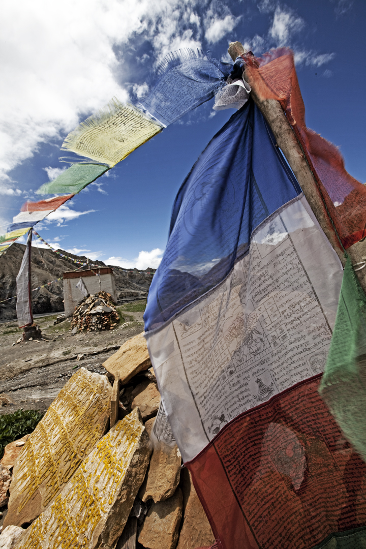 Prayer Flags in the Kingdom of Mustang. Photo © Cory Richards