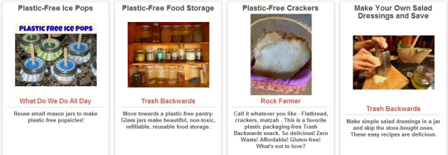 Food Less Plastic Ideas from Trash Backwards