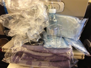 Greeted by Plastic on Korean Airlines
