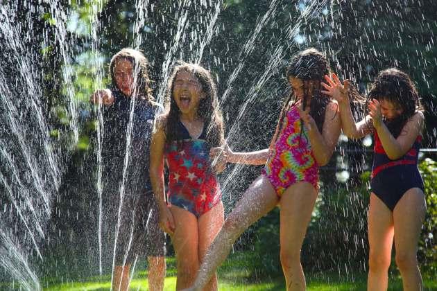 Be Sure to Play in a BPA-Free Garden Hose Spray. Photo © Liesl Clark