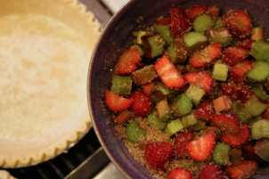 Our Mother's Day Tradition is Baking Strawberry Rhubarb Pie. Photo © Liesl Clark