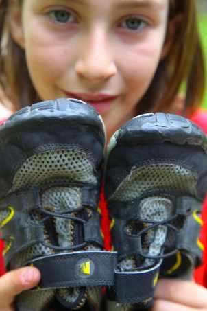 Shoe repair with sugru. Photo © Liesl Clark