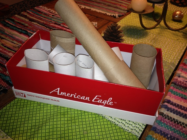 Saved-up Toilet Paper Rolls. Photo © Kelly Munson