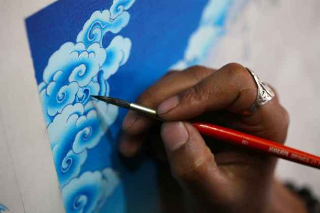 Azurite Is One of The Pigments Used in Traditional Himalayan Art. Photo © Liesl Clark