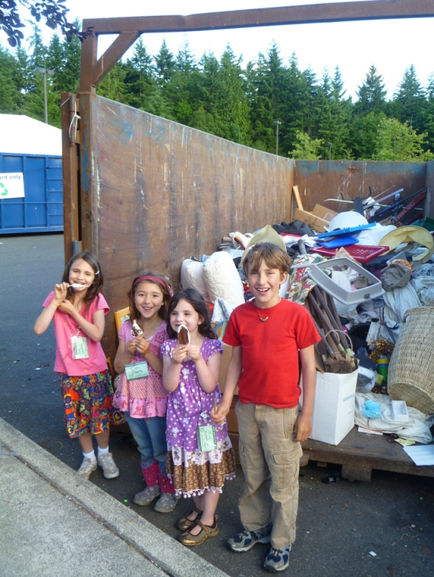 The Trash Backwards Kids Enjoy Working at the Rotary Auction Dumpster