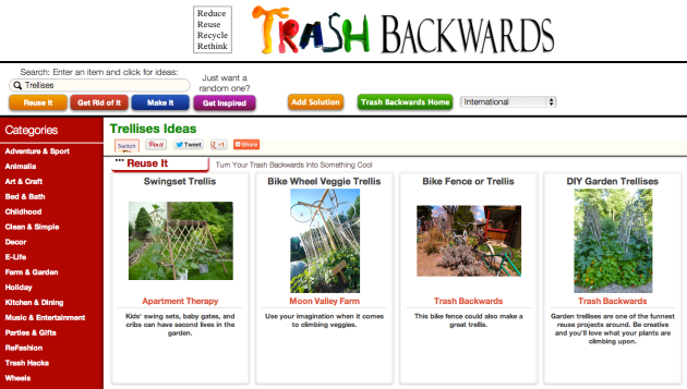Click Through For More DIY Trellises at Trash Backwards