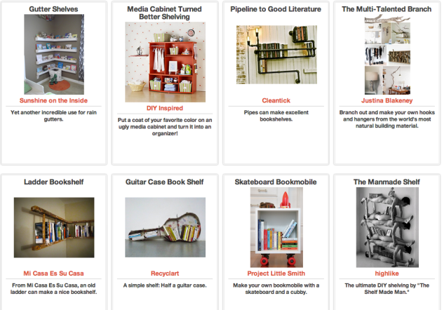 Click Through For DIY Book Shelves at Trash Backwards