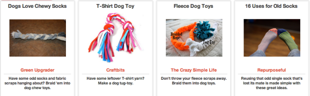 Click Through for DIY Dog Toys at Trash Backwards