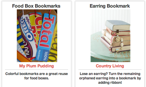 Click Through For DIY Bookmarks at Trash Backwards