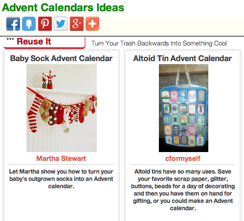 Click Through for Advent Calendar Ideas at Trash Backwards
