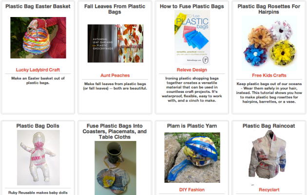 Click Through for Ideas for Repurposing Plastic Bags at Trash Backwards.
