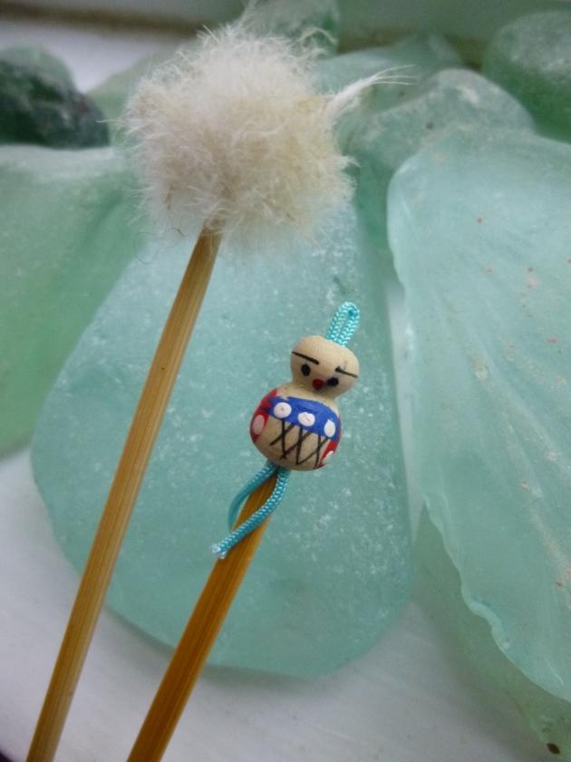 Adornments on a Set of Bamboo Mimikaki Ear Spoons