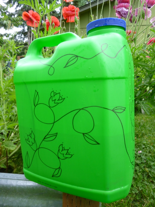 DIY Plastic Jug Watering Can with Doodling