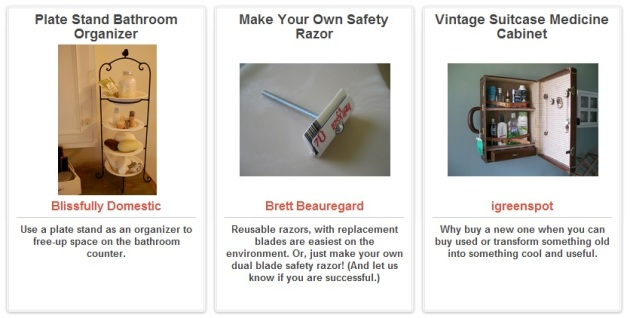 Bed & Bath Ideas via Trash Backwards