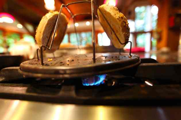 Stovetop Toast-Makers Rule. © Liesl Clark