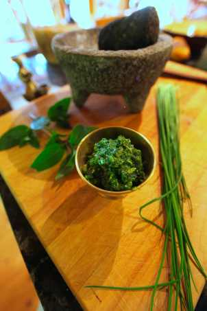 Chives and Mint Work Together For Salsa